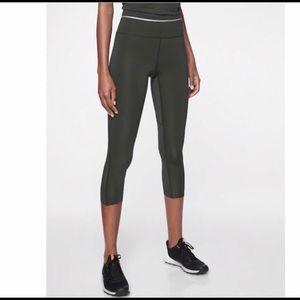 Athleta Olive Green Swift Lite Sonic Crop Leggings